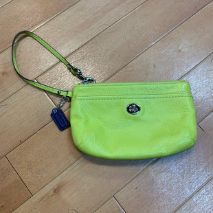 Primary Photo - BRAND: COACH STYLE: WRISTLET COLOR: LIME GREEN SKU: 217-217182-3670