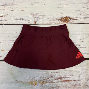 Primary Photo - BRAND: ADIDAS STYLE: ATHLETIC SKIRT SKORT COLOR: MAROON SIZE: XS SKU: 217-217196-644