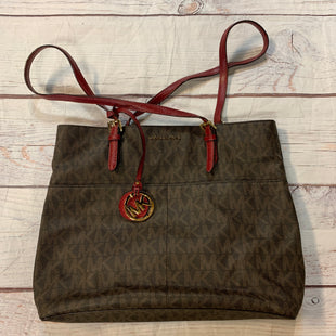 Primary Photo - BRAND: MICHAEL KORS STYLE: HANDBAG DESIGNER COLOR: CHOCOLATE SIZE: MEDIUM OTHER INFO: RED SKU: 217-217182-7892