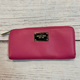 Primary Photo - BRAND: MICHAEL BY MICHAEL KORS STYLE: WALLET COLOR: HOT PINK SIZE: LARGE OTHER INFO: ZIP AROUND SKU: 217-217104-37402