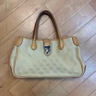 Primary Photo - BRAND: DOONEY AND BOURKE STYLE: HANDBAG DESIGNER COLOR: CREAM SIZE: MEDIUM OTHER INFO: STAIN SKU: 217-217182-2279