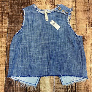 Primary Photo - BRAND:  ANTHROPOLOGIE STYLE: TOP SLEEVELESS COLOR: DENIM SIZE: L OTHER INFO: AMADI - NEW! $98 SKU: 217-217182-5113