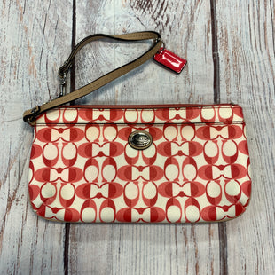 Primary Photo - BRAND: COACH STYLE: WRISTLET COLOR: PINK OTHER INFO: PINK/WHT SKU: 217-217144-9570