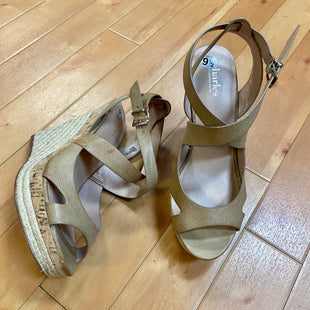 Photo #1 - BRAND: CHARLES BY CHARLES DAVID STYLE: SANDALS HIGH COLOR: NUDE SIZE: 9.5 OTHER INFO: CORK/WICKER WEDGE SKU: 178-178111-2392