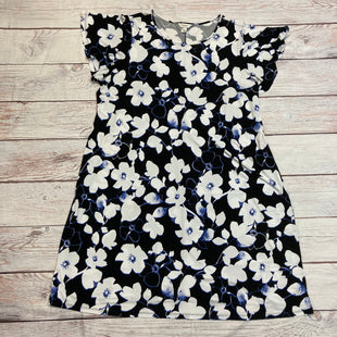 Primary Photo - BRAND: CJ BANKS STYLE: DRESS SHORT SHORT SLEEVE COLOR: BLACK WHITE SIZE: 3X OTHER INFO: BLUE/ FLORAL SKU: 217-217104-27720