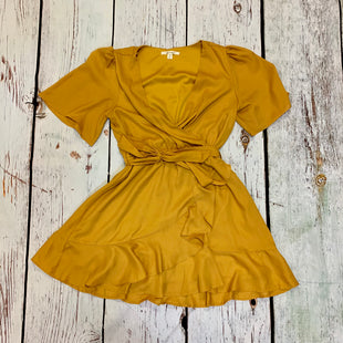 Primary Photo - BRAND: MIAMI STYLE: DRESS SHORT SHORT SLEEVE COLOR: MUSTARD SIZE: M SKU: 217-217153-8559