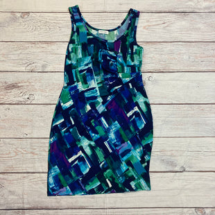 Primary Photo - BRAND: CALVIN KLEIN STYLE: DRESS SHORT SLEEVELE COLOR: MULTI SIZE: 12 OTHER INFO: BLUE/PURPLE/GREEN/VI SKU: 257-257175-441