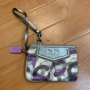 Primary Photo - BRAND: COACH STYLE: WRISTLET COLOR: PRINT OTHER INFO: PURPLE/CRM/GREY SKU: 217-217144-8284