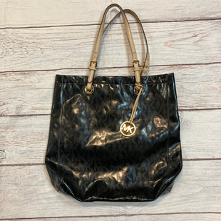 Primary Photo - BRAND: MICHAEL BY MICHAEL KORS STYLE: HANDBAG DESIGNER COLOR: BLACK SIZE: LARGE OTHER INFO: MONOGRAM PATENT LEATHER JET SET SKU: 217-217104-37399