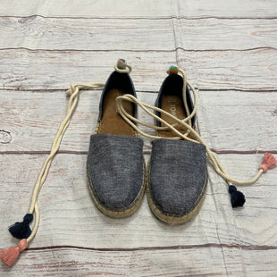 Primary Photo - BRAND: TOMS STYLE: SHOES FLATS COLOR: DENIM SIZE: 7.5 OTHER INFO: TIES SKU: 217-217144-9751