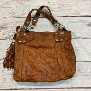 Primary Photo - BRAND: B MAKOWSKY STYLE: HANDBAG LEATHER COLOR: BROWN SIZE: MEDIUM OTHER INFO: FRINGE TASSEL SKU: 217-217104-37422