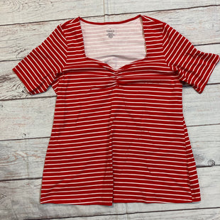 Primary Photo - BRAND: TORRID STYLE: TOP SHORT SLEEVE COLOR: STRIPED SIZE: L OTHER INFO: NEW!/RED/WHITE SKU: 178-17883-13822