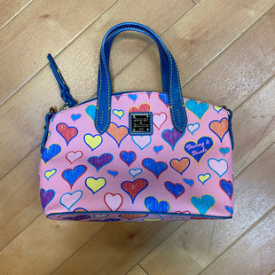 Primary Photo - BRAND: DOONEY AND BOURKE STYLE: HANDBAG DESIGNER COLOR: PINK SIZE: SMALL OTHER INFO: RAINBOW HEARTS SKU: 217-217182-2900