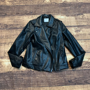 Primary Photo - BRAND: OLD NAVY STYLE: JACKET LEATHER COLOR: BLACK SIZE: M SKU: 217-217182-5826