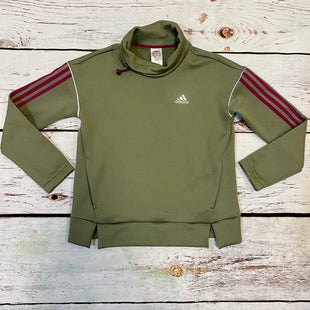 Primary Photo - BRAND: ADIDAS STYLE: ATHLETIC JACKET COLOR: GREEN SIZE: XS SKU: 217-217196-800