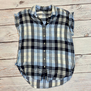 Primary Photo - BRAND: AERIE STYLE: BLOUSE SHORT SLEEVE COLOR: PLAID SIZE: S OTHER INFO: BLUE WHITE SKU: 217-217104-31796
