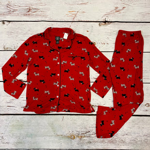 Primary Photo - BRAND: LAURA ASHLEY STYLE: PAJAMAS 2PC COLOR: RED BLACK SIZE: M OTHER INFO: DOGS HEARTS SKU: 217-217104-39701