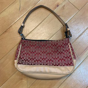 Primary Photo - BRAND: COACH STYLE: HANDBAG DESIGNER COLOR: RED SIZE: SMALL OTHER INFO: SP-TAN TRIM SKU: 178-178168-2251