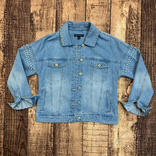 Primary Photo - BRAND: INC STYLE: JACKET OUTDOOR COLOR: DENIM SIZE: S OTHER INFO: PEARLS SKU: 217-217104-35362