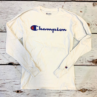 Primary Photo - BRAND: CHAMPION STYLE: ATHLETIC TOP COLOR: WHITE SIZE: S OTHER INFO: BLUE RED CHAMPION SKU: 217-217193-757