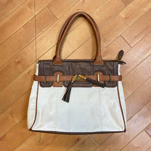 Primary Photo - BRAND: ALDO STYLE: HANDBAG COLOR: CREAM SIZE: MEDIUM OTHER INFO: BROWN3. SKU: 217-217182-2516