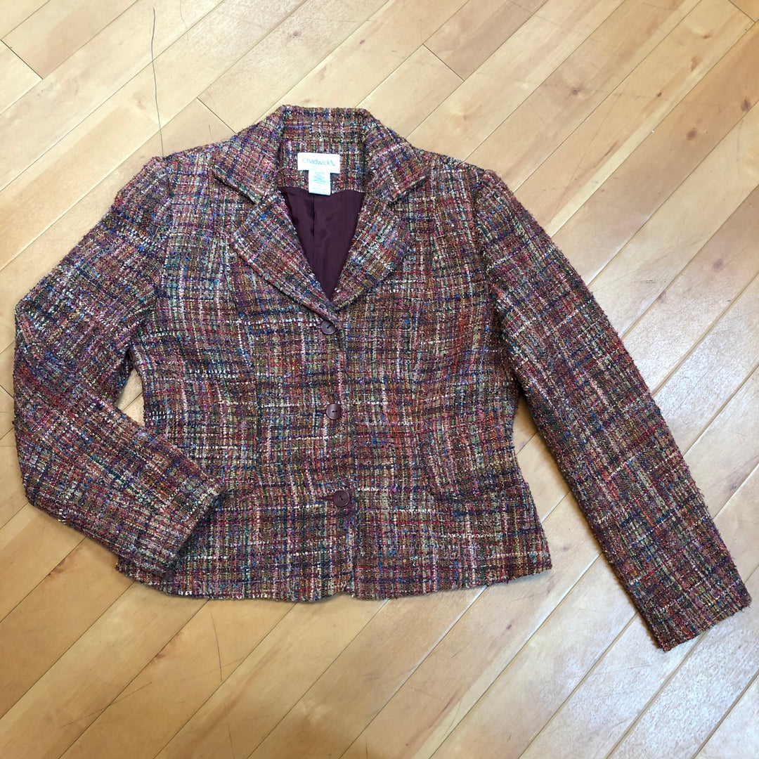 Primary Photo - BRAND: CHADWICKS <BR>STYLE: BLAZER JACKET <BR>COLOR: MULTI <BR>SIZE: 10 <BR>SKU: 217-217153-1074
