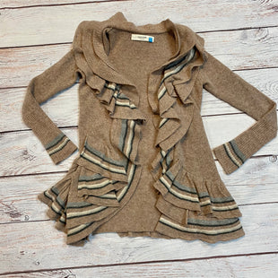 Primary Photo - BRAND: SPARROW STYLE: SWEATER CARDIGAN HEAVYWEIGHT COLOR: BEIGE SIZE: XS OTHER INFO: GREY WHITE STRIPES SKU: 217-217104-35755