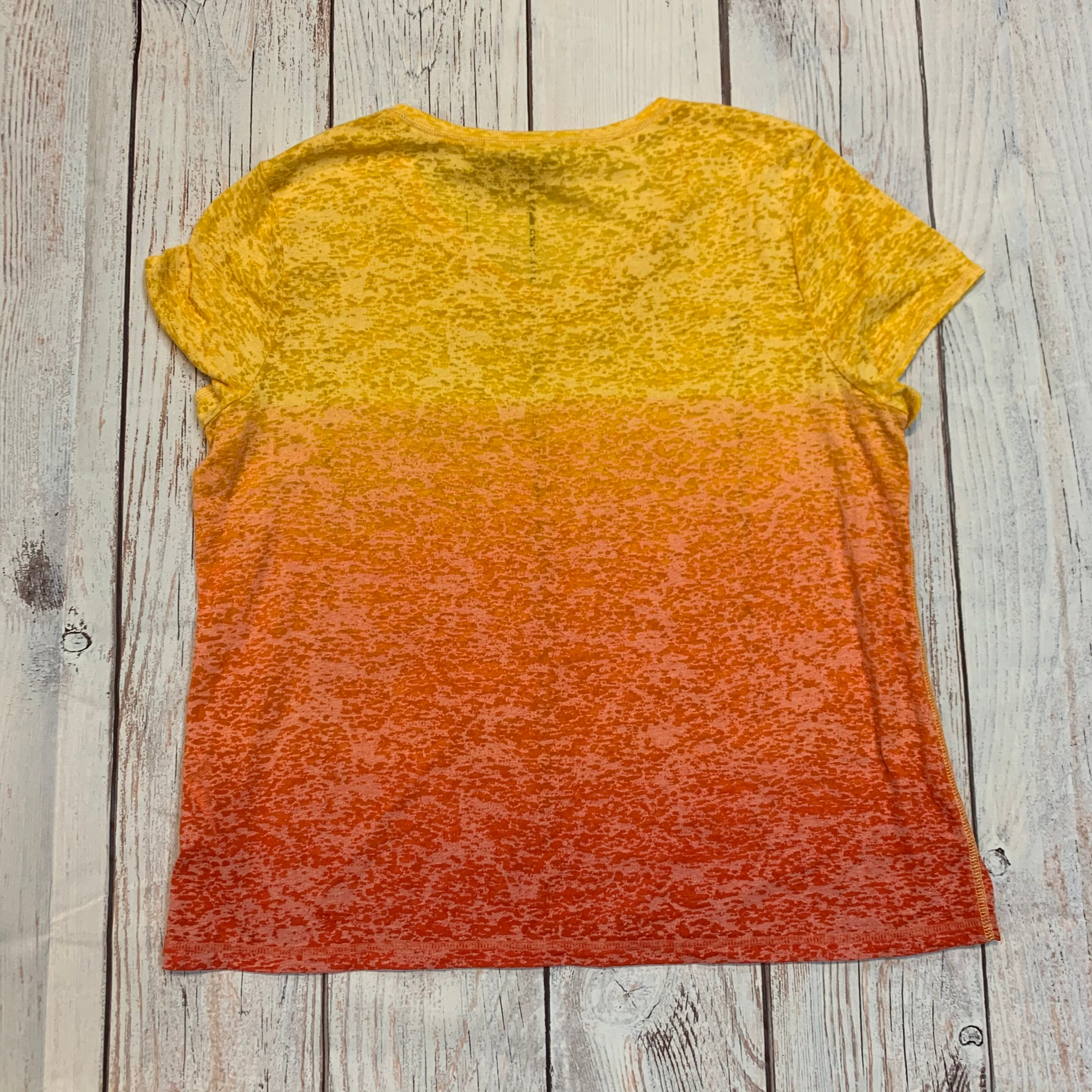 Photo #2 - <P>BRAND: CHICOS <BR>STYLE: TOP SHORT SLEEVE</P> <P>SIZE: 3<BR>OTHER INFO: YELLOW/ORANGE <BR>SKU: 217-217182-6316</P>
