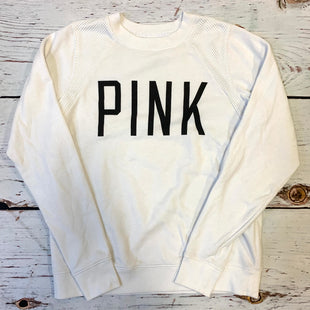Primary Photo - BRAND: PINK STYLE: ATHLETIC TOP COLOR: WHITE SIZE: XS OTHER INFO: BLACK PINK SKU: 217-217193-452