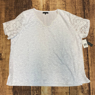 Primary Photo - BRAND:    NAPA VALLEYSTYLE: TOP SHORT SLEEVE COLOR: WHITE SIZE: 2X OTHER INFO: NAPA VALLEY - NEW! SKU: 217-217104-35717