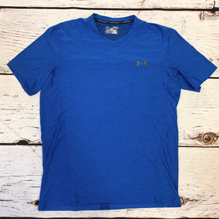 Primary Photo - BRAND: UNDER ARMOUR STYLE: ATHLETIC TOP SHORT SLEEVE COLOR: BLUE SIZE: M SKU: 217-217193-755