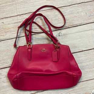 Primary Photo - BRAND: COACH STYLE: HANDBAG DESIGNER COLOR: HOT PINK SIZE: MEDIUM OTHER INFO: SATCHEL SKU: 217-217104-38554