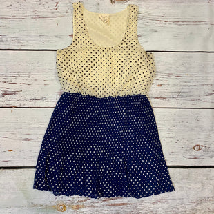 Primary Photo - BRAND: PINS AND NEEDLES STYLE: DRESS DESIGNER COLOR: BEIGE SIZE: M OTHER INFO: NAVY POLKADOTS SKU: 217-217153-8690