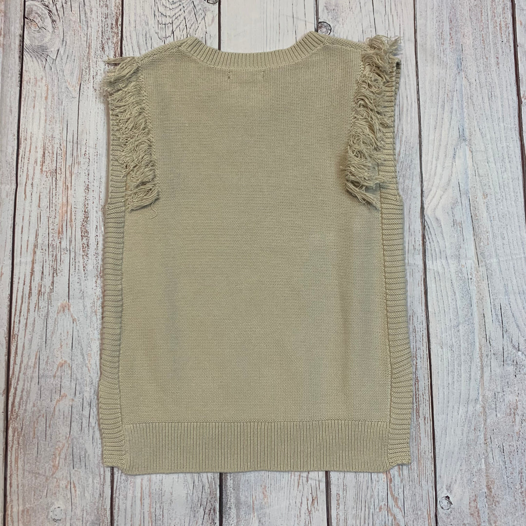 Photo #2 - BRAND: BANANA REPUBLIC <BR>STYLE: TOP SLEEVELESS <BR>COLOR: BEIGE <BR>SIZE: M <BR>OTHER INFO: NEW! SWEATER VEST <BR>SKU: 217-217182-4318