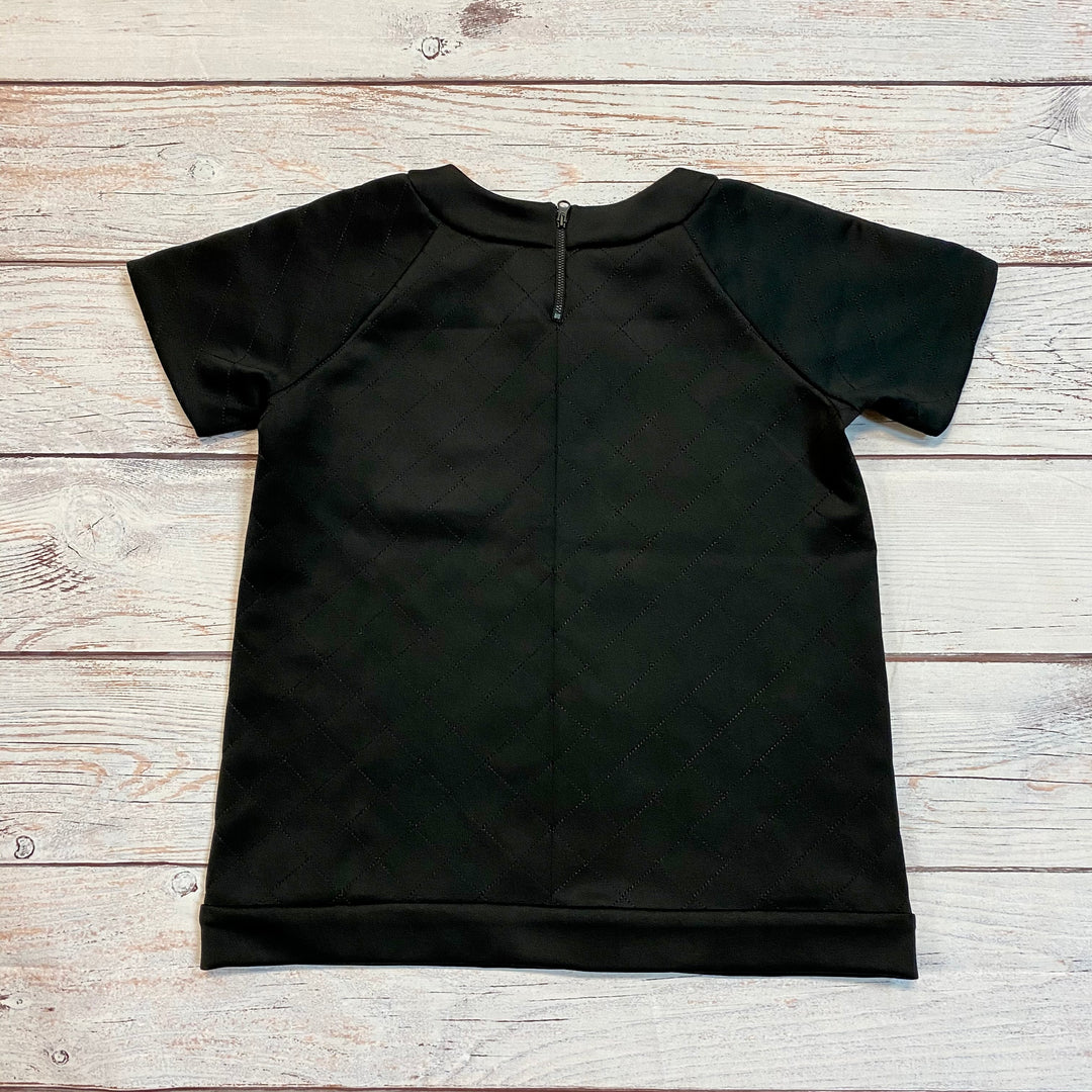 Photo #1 - BRAND: FRENCH CONNECTION <BR>STYLE: TOP SHORT SLEEVE <BR>COLOR: BLACK <BR>SIZE: S <BR>OTHER INFO: CRYSTALS <BR>SKU: 217-217143-380