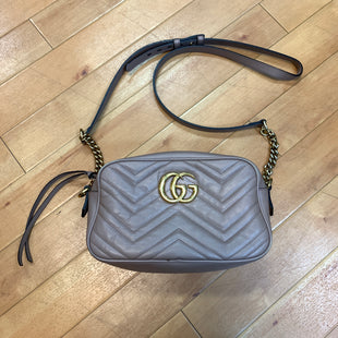 Primary Photo - BRAND: GUCCI STYLE: HANDBAG DESIGNER COLOR: MAUVE SIZE: SMALL OTHER INFO: MARMONT MODEL NUMBER: 486628 SKU: 217-217144-8545