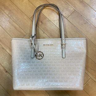 Primary Photo - BRAND: MICHAEL BY MICHAEL KORS STYLE: HANDBAG DESIGNER COLOR: NUDE SIZE: LARGE OTHER INFO: NEW! JET SET CARRYALL $248 SKU: 217-217104-32832