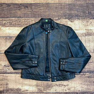 Primary Photo - BRAND: INC STYLE: JACKET LEATHER COLOR: BLACK SIZE: M SKU: 217-217104-35359