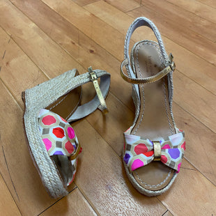 Photo #1 - BRAND: KATE SPADE STYLE: SANDALS HIGH SIZE: 6.5 OTHER INFO: ROPE WEDGE / PINK RED SKU: 217-217104-28259