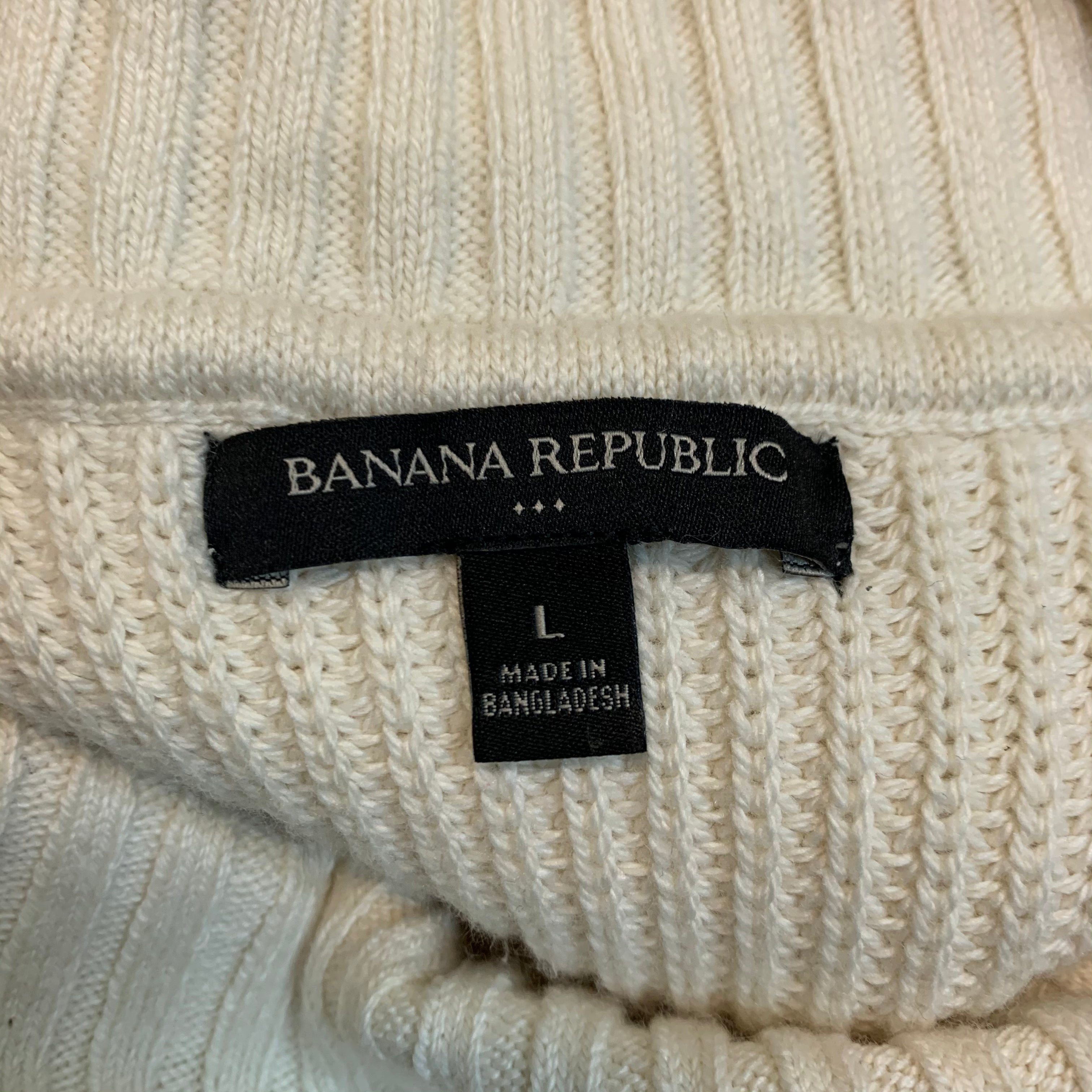 Photo #1 - BRAND: BANANA REPUBLIC <BR>STYLE: SWEATER HEAVYWEIGHT <BR>COLOR: CREAM <BR>SIZE: L <BR>OTHER INFO: NEW! $54.99 <BR>SKU: 217-217182-2487