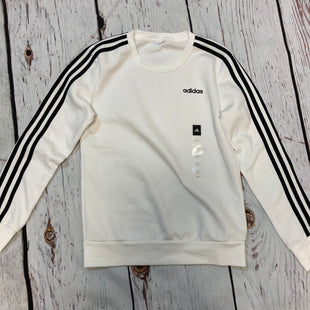 Primary Photo - BRAND: ADIDAS STYLE: ATHLETIC TOP COLOR: WHITE BLACK SIZE: S SKU: 217-217182-9896