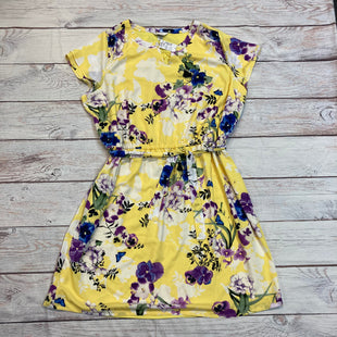 Primary Photo - BRAND: CJ BANKS STYLE: DRESS SHORT SHORT SLEEVE COLOR: YELLOW SIZE: 3X OTHER INFO: NEW! FLORAL SKU: 217-217104-27721