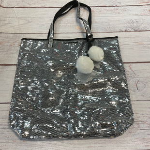 Primary Photo - BRAND: VICTORIAS SECRET STYLE: TOTE COLOR: SEQUIN SIZE: LARGE OTHER INFO: NEW! $50 SILVER SKU: 217-217104-38688