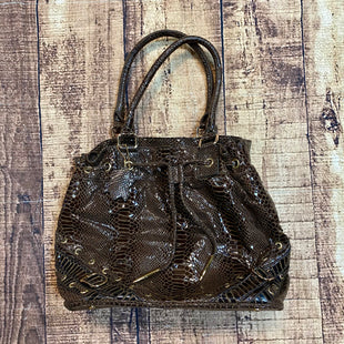 Primary Photo - BRAND: TIFFANY AND FREDSTYLE: HANDBAG COLOR: SNAKESKIN PRINT SIZE: MEDIUM OTHER INFO: BROWN SKU: 217-217182-6973