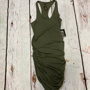 Primary Photo - BRAND: EXPRESS STYLE: DRESS SHORT SLEEVELESS COLOR: GREEN SIZE: M OTHER INFO: NEW! $49.90 RUCHED SIDES SKU: 217-217104-39566