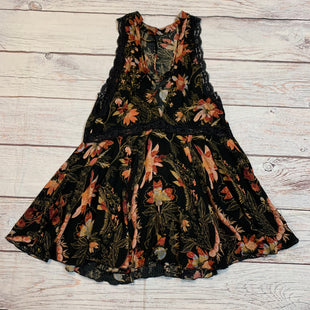 Primary Photo - BRAND: FREE PEOPLE STYLE: DRESS SHORT SLEEVELESS COLOR: BLACK SIZE: S OTHER INFO: FLORAL SKU: 217-217104-36437
