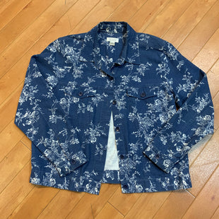 Primary Photo - BRAND: CHRISTOPHER AND BANKS STYLE: JACKET OUTDOOR COLOR: DENIM BLUE SIZE: L OTHER INFO: FLORAL PRINT SKU: 217-217111-8859