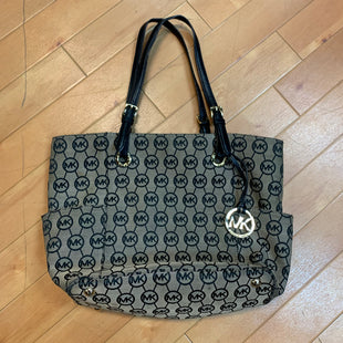 Primary Photo - BRAND: MICHAEL BY MICHAEL KORS STYLE: HANDBAG DESIGNER COLOR: MONOGRAM SIZE: LARGE OTHER INFO: TAN BLACK AS IS SKU: 217-217104-32921
