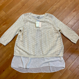 Primary Photo - BRAND: LUCKY BRAND STYLE: SWEATER LIGHTWEIGHT COLOR: CREAM SIZE: 1X OTHER INFO: NEW! SKU: 217-217104-35021