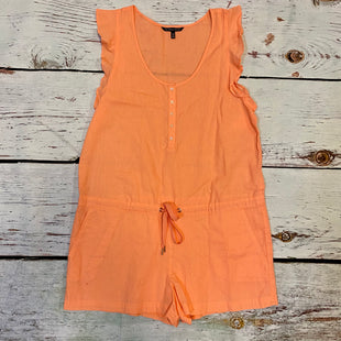 Primary Photo - BRAND: VICTORIAS SECRET STYLE: DRESS SHORT SHORT SLEEVE COLOR: CORAL SIZE: M OTHER INFO: TIE WAIST ROMPER SKU: 257-257183-815